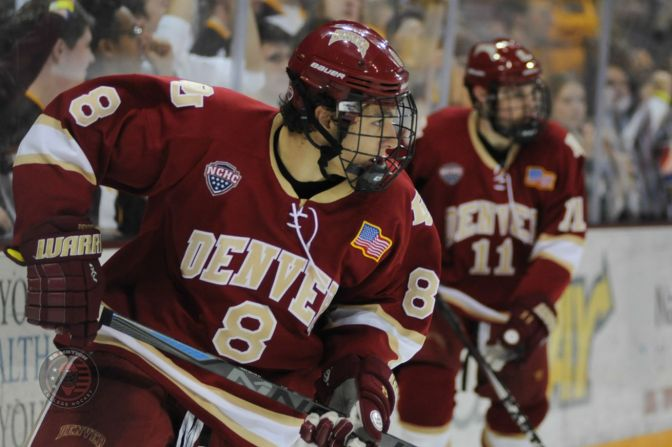 Shore Nets Two as Denver Beats Western Michigan 5-3