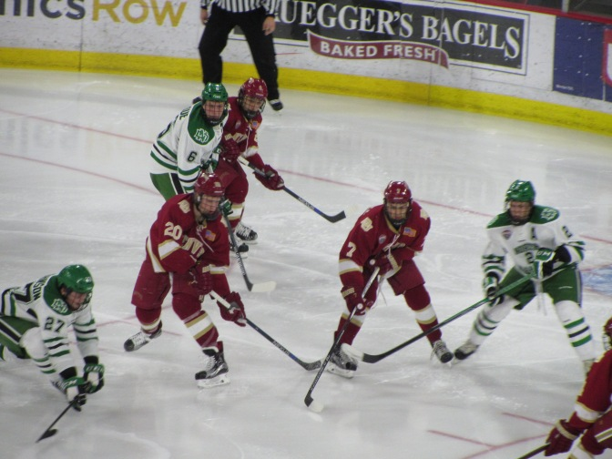 Heinen and Gambrell Named NCHC Players of the Week