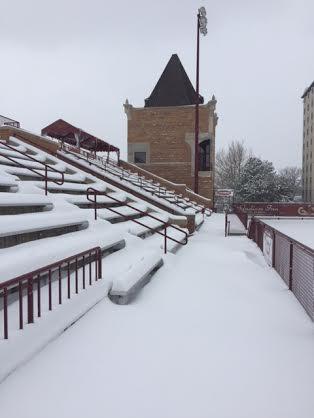 Winter Storm follows Lacrosse Scrimmage