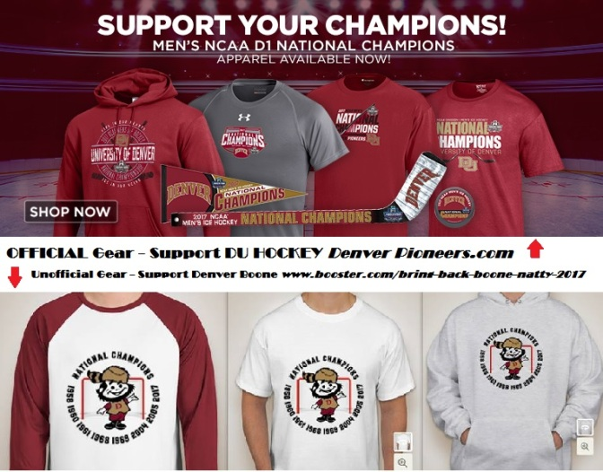 Order Championship or Boone Gear