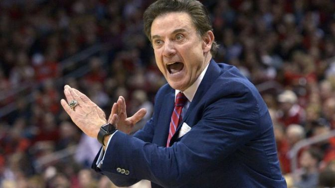 Rick Pitino (finally) takes a fall