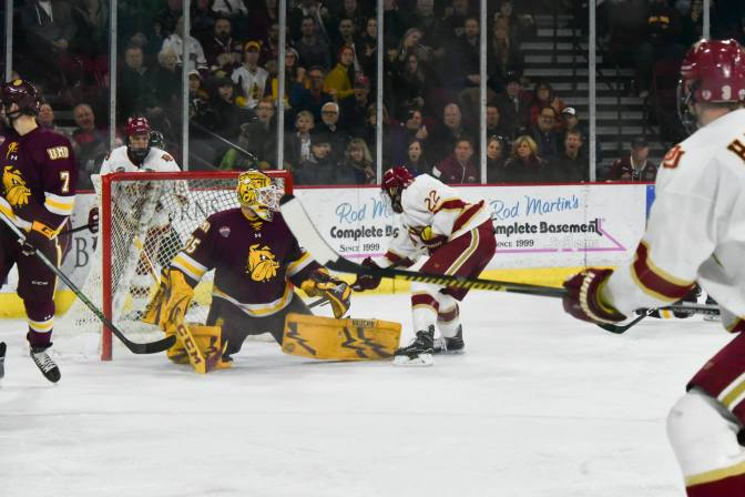O'Connor's lone goal sends Denver past UMD in championship rematch