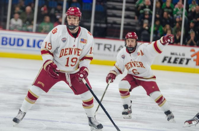 Pioneers building on NCHC Quarterfinal, playing 'inspired hockey' ahead of Frozen Faceoff