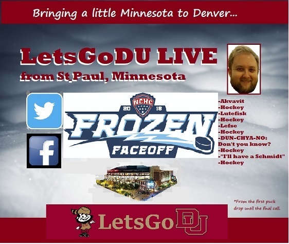 LetsGoDU live from St. Paul, Minnesota for NCHC Frozen Faceoff